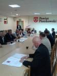 Rada Powiatowa podczas posiedzenia